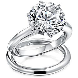 BLING 3.5 ct. Cubic Ziconia Solitaire Ring Set