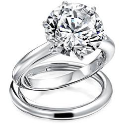 3.5 ct. Cubic Ziconia Solitaire Ring Set