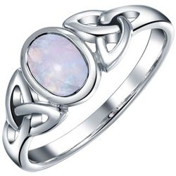 BLING Celtic Moonstone Sterling Silver Ring