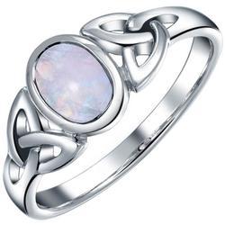 Celtic Moonstone Sterling Silver Ring