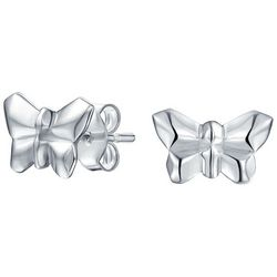 BLING Jewelry Origami Butterfly Stud Earrings