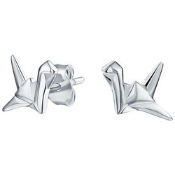 BLING Jewelry Origami Swan Stud Earrings