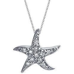 BLING Jewelry Happy Starfish Pendant Necklace