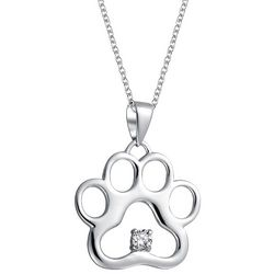 BLING Jewelry Filigree Paw Print Pendant Necklace