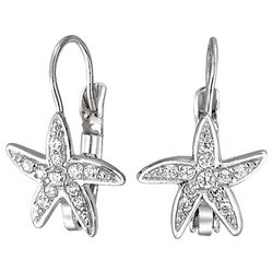 BLING Jewelry Starfish Leverback Drop Earrings