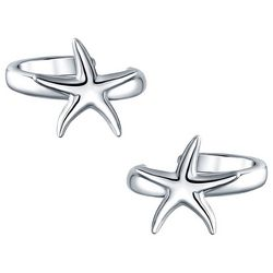 BLING Jewelry Sea Starfish Cuff Earrings