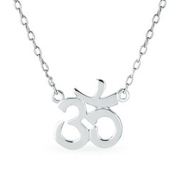 BLING Jewelry Om Sterling Silver Pendant 16''  Necklace
