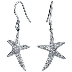 BLING Jewelry CZ Pave Starfish Dangle Earrings