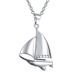 BLING Jewelry Sailboat Sterling Silver Pendant