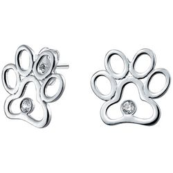 BLING Jewelry Paw Print Stud Earrings