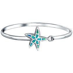 BLING Jewelry Blue Opal Starfish Bangle Bracelet