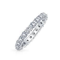 Stackable Cubic Zirconia Eternity Ring