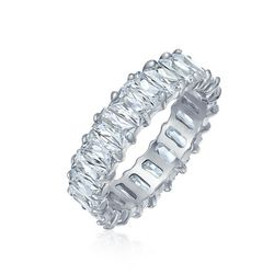 BLING Baguette Cut Eternity Wedding Band Ring