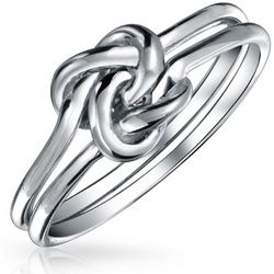 BLING Double Band Love Knot Infinity Ring