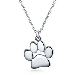 BLING Sterling Silver Puppy Paw Pendant