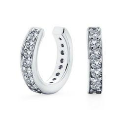 BLING Petite Modern Cubic Zirconia Silver Cuffs