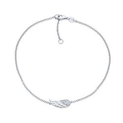BLING Sterling Silver Angel Wing Anklet