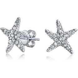 BLING Dancing Starfish Cubic Zirconia Earrings