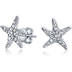 BLING Dancing Starfish Cubic Zirconia Earrings