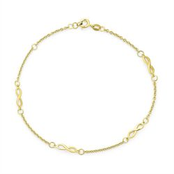 BLING Gold Plated Infinity Link Anklet