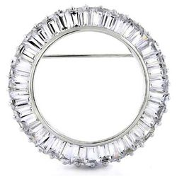 BLING Cubic Zirconia Circle of Life Brooch