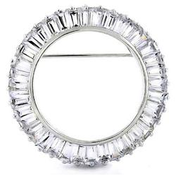 Cubic Zirconia Circle of Life Brooch