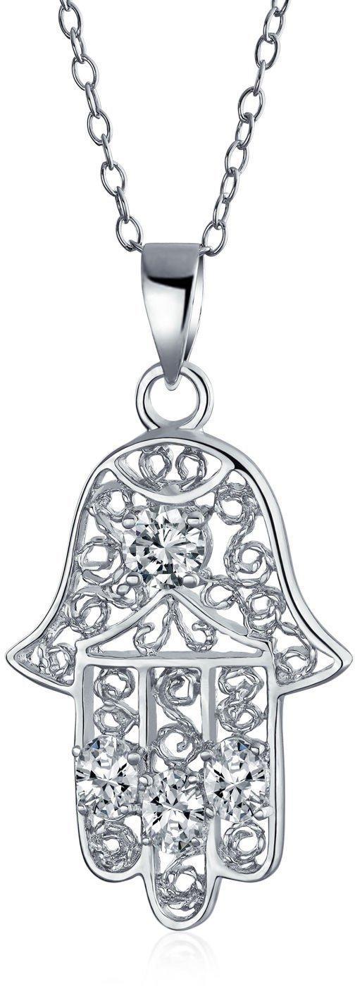 Glitzs Jewels Sterling Silver Abalone Palm Tree Necklace