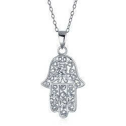 BLING Filigree Hamsa Pendant & Necklace