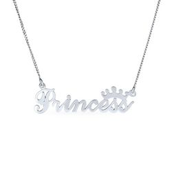 BLING Sterling Silver Princess Necklace