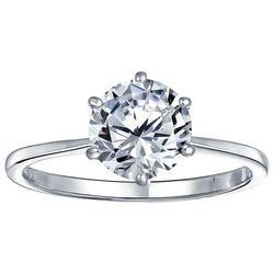 BLING CZ Solitaire Engagement Ring
