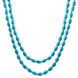 BLING Reconstituted Turquoise Long Necklace