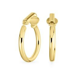 BLING Sterling Silver Gold Plated Hoops