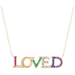 Lesa Michele Multicolored Loved Necklace