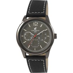Caribbean Joe Mens Gunmetal Grey Dial Watch