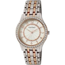 Ellen Tracy Womens Two Tone EZ Read Bracelet Watch