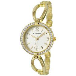 Ellen Tracy Womens Rhinestone Bezel Watch