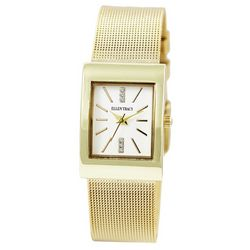 Ellen Tracy Womens Rectangular Face Watch