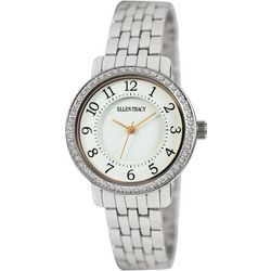 Ellen Tracy Womens Easy Reader White Face Watch
