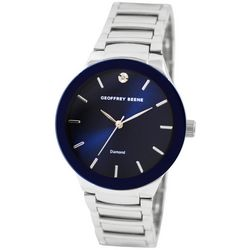 Geoffrey Beene Mens Navy Blue Dial Bracelet Watch