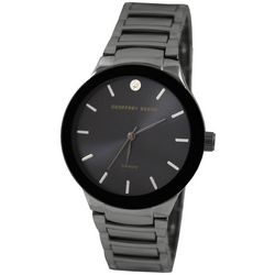 Geoffrey Beene Mens Black & Grey Bracelet Watch