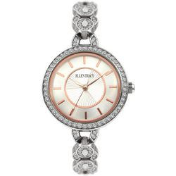 Ellen Tracy Womens Two Tone Rhinestone Links Watch