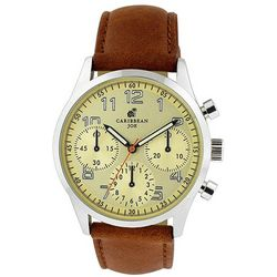 Caribbean Joe Mens Yellow Dial Watch