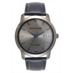 Geoffrey Beene Mens Blue & Gunmetal Tone Watch