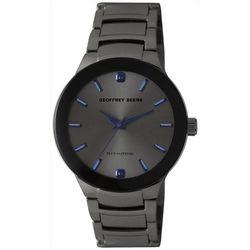 Geoffrey Beene Mens Gunmetal & Sapphire Blue Watch