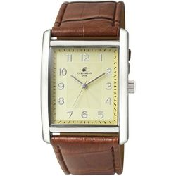 Caribbean Joe Mens Rectangle Face Watch
