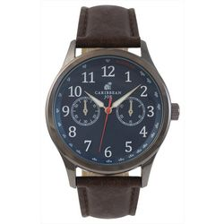 Caribbean Joe Mens Blue Face Watch