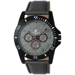 Caribbean Joe Mens Grey & Black Watch