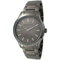 Geoffrey Beene Mens Dash Dial Gunmetal Watch