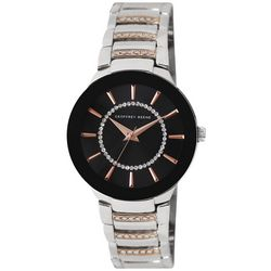 Geoffrey Beene Womens Two Tone Round Bezel Band Watch