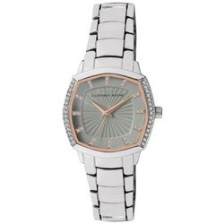 Geoffrey Beene Womens Octagonal Two Tone Watch